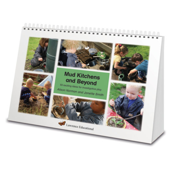 Mud Kitchens and Beyond - creative ideas in A4 wiro bound book.