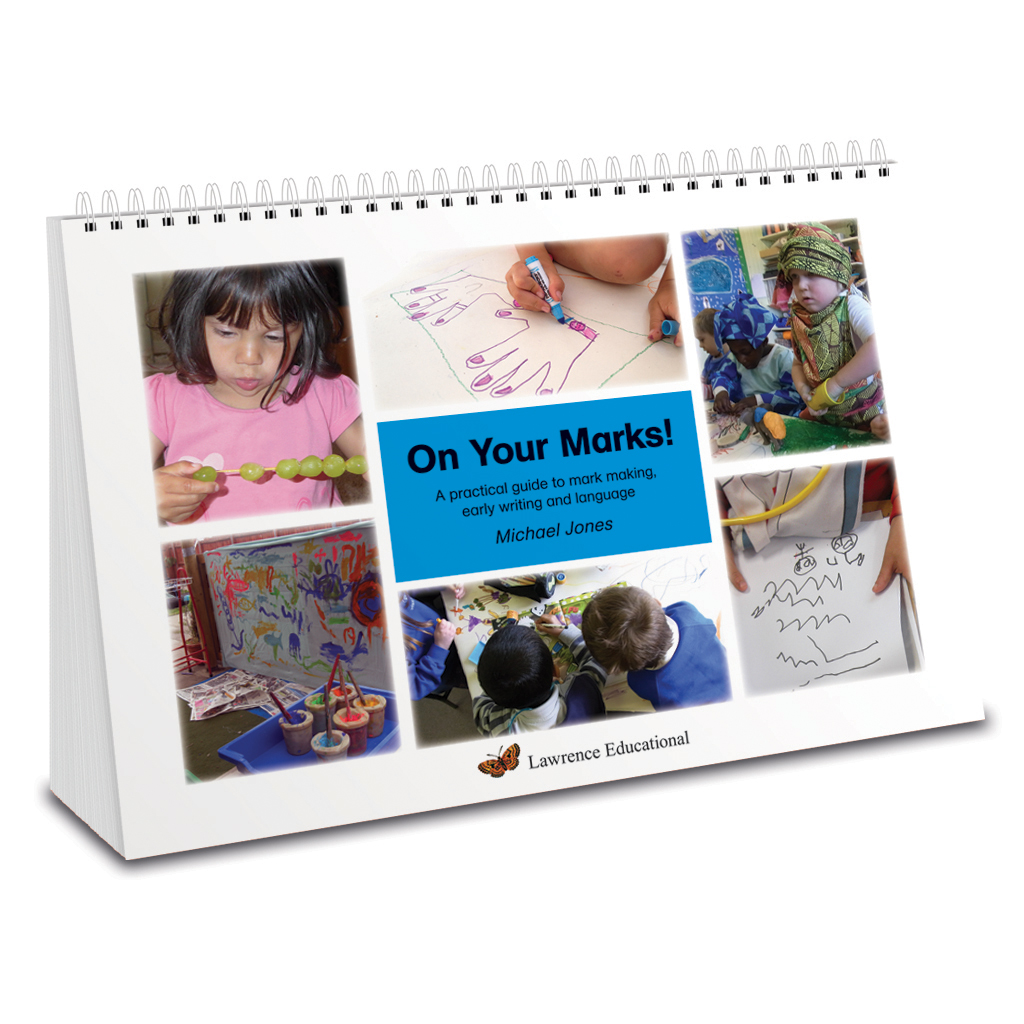 Practitioner's book to help children with mark making and emergent writing skills. A4 wiro bound book.