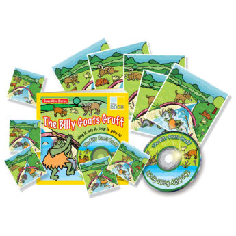 The Billy Goats Gruff Resource Pack with practitioner's book, story cards and audio CD