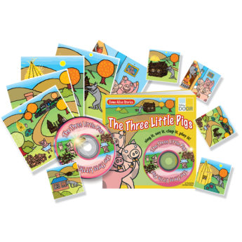 The Three Little Pigs Resource Pack with practitioner's book, story cards and audio CD