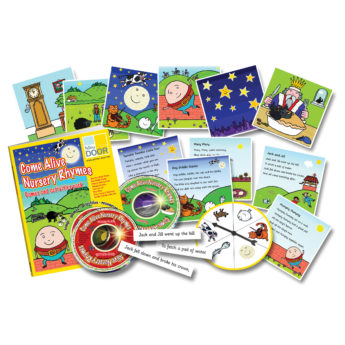 Come Alive Nursery Rhymes Games and Activities Pack - practitioner's book, audio CD, CD Rom and games.