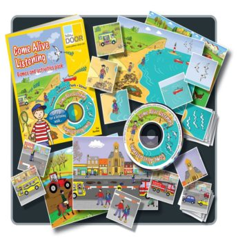 Come Alive Listening pack includes sound makers, printed activity cards and a practitioner's book.