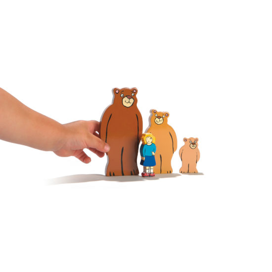 Goldilocks and the Three Bears Wooden Characters (50-120mm)