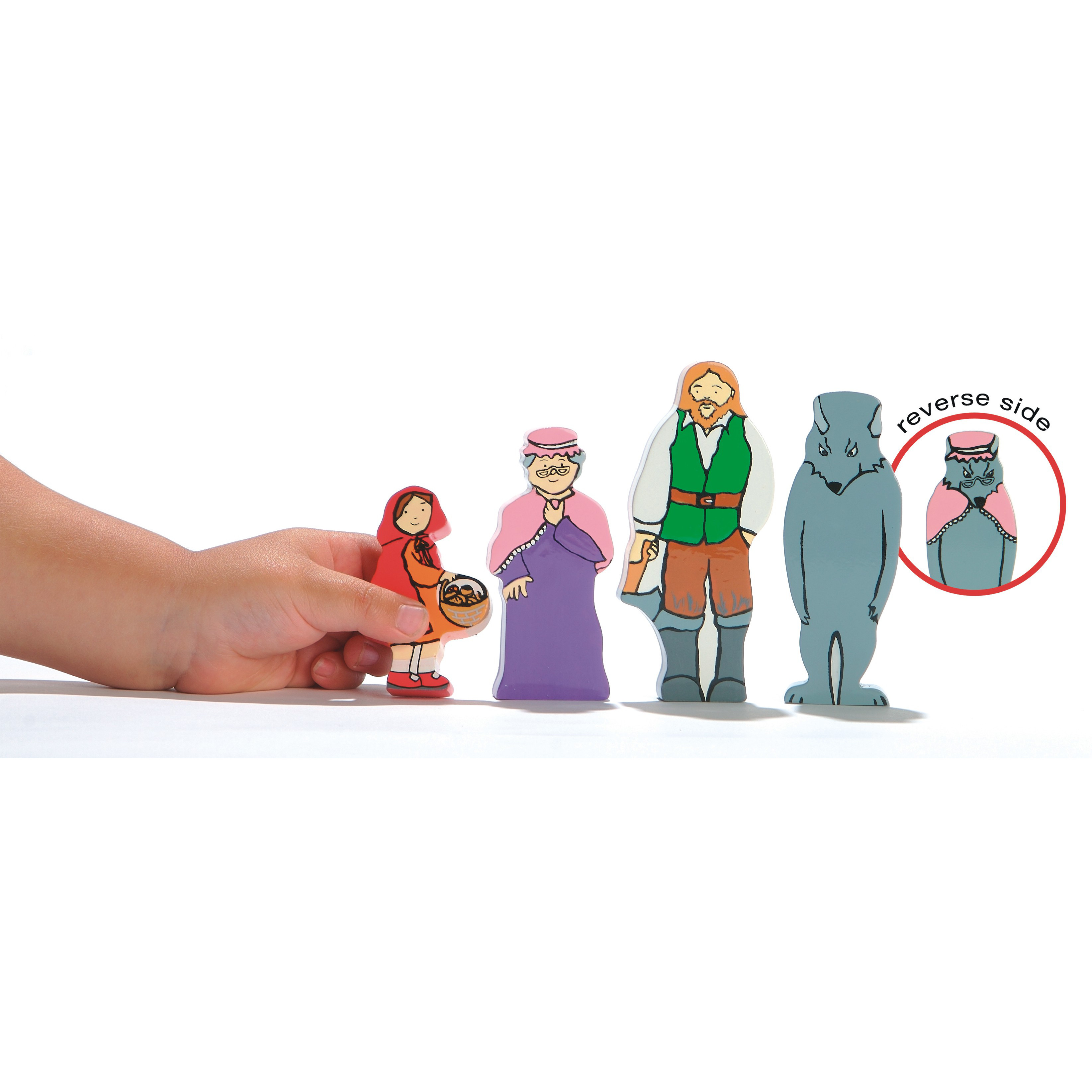 Little Red Riding Hood Wooden Characters For Storytelling