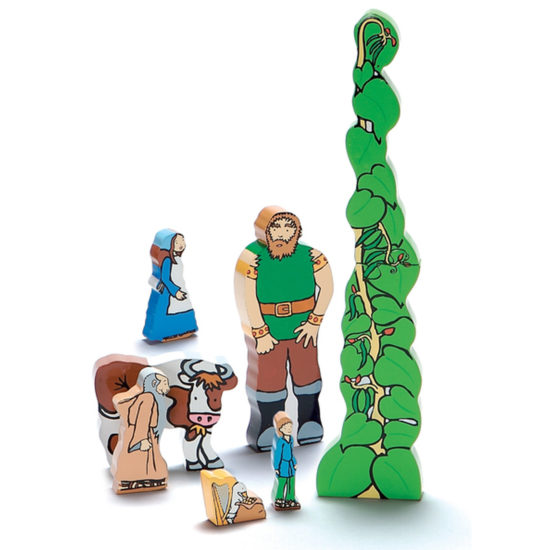 Jack and the Beanstalk Wooden Characters (35-180mm)