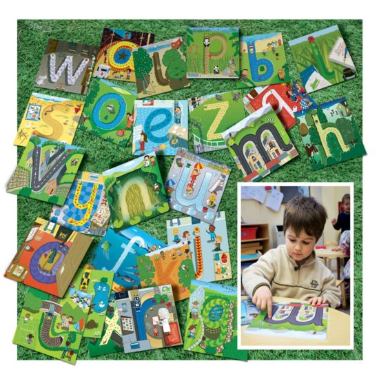 Alphabet Pathway Mats - 26 letter formation mats for early years and KS1