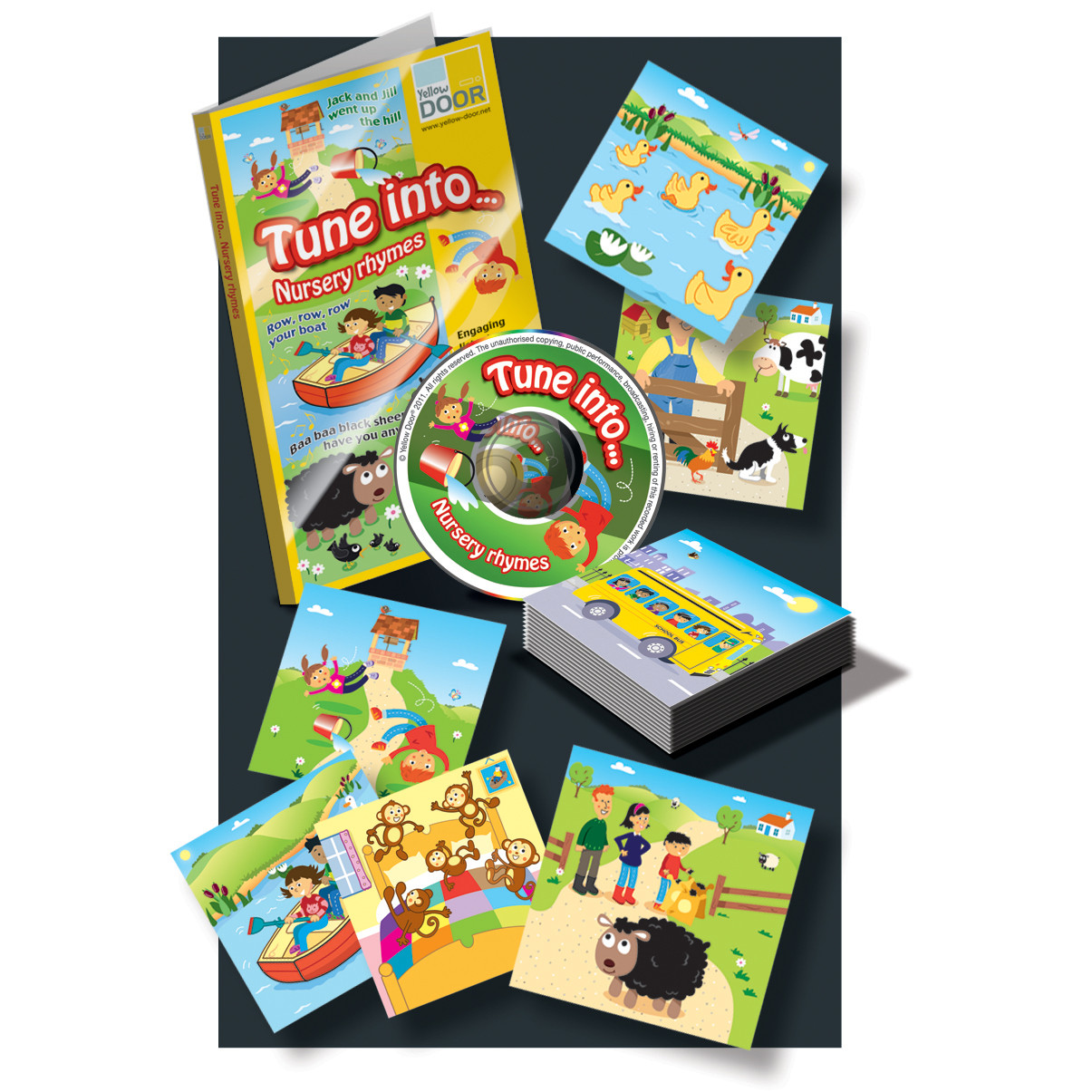 Nursery Rhymes Audio Cd And Ilrated Rhyme Cards