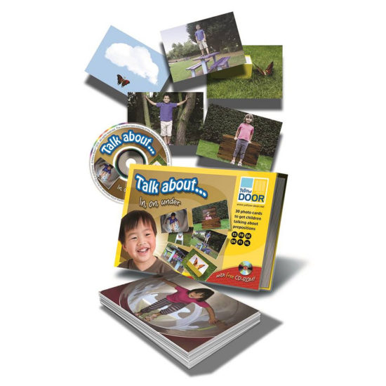 Talk about... In, on, under - 30 photo preposition cards, plus CD-ROM of images