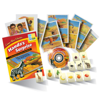 Handa's Surprise pack includes story cards, practitioner's guide, games and CD-ROM
