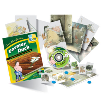 Farmer Duck story cards pack includes story cards, practitioner's guide, games and CD-ROM