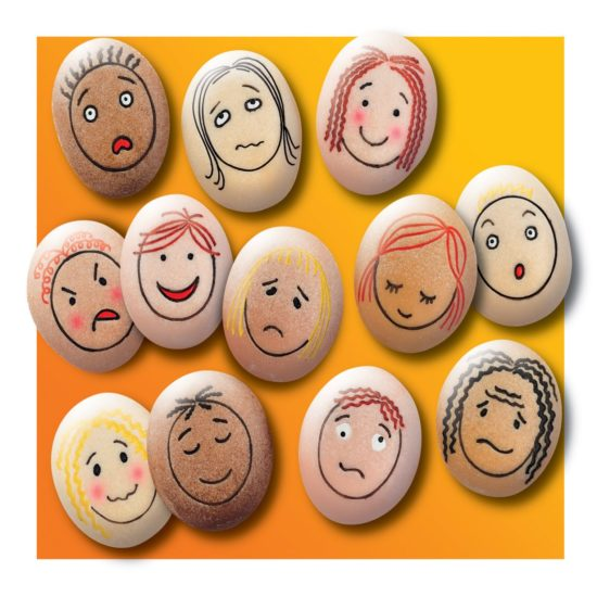 Emotion Stones - 12 Feelings Pebbles for early years and KS1