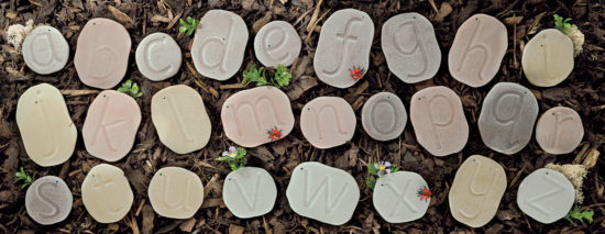 Alphabet stones to practise letter formation - 26 letter stones (75-135mm)