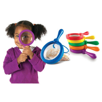Jumbo magnifiers - large magnifying glasses for children (20cm and 4.5x magnification)