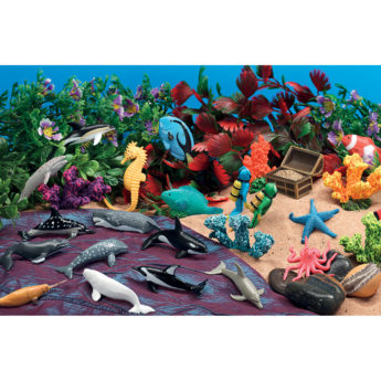 Underwater theme scene kit for small world play