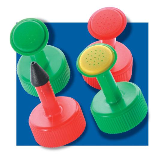 Set of four plastic screw-top Bottleheads