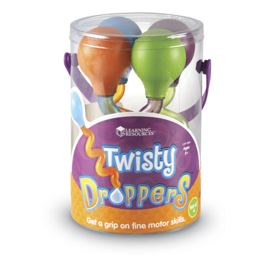 Set of four Twisty Droppers to develop fine motor skills