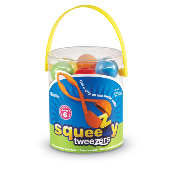 Set of six Squeezy Tweezers to build muscle strength and fine motor skills
