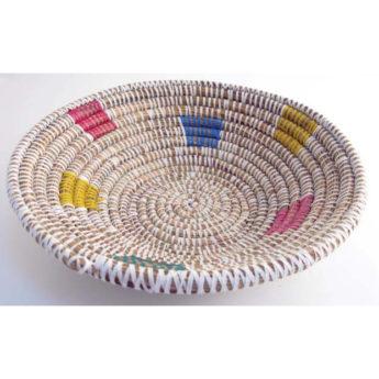 Senegalese Woven Basket (40cm in diameter)