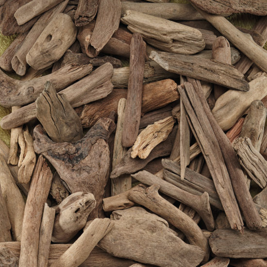 Driftwood pieces for investigative play and small world activities (800g bag - 75-125mm)