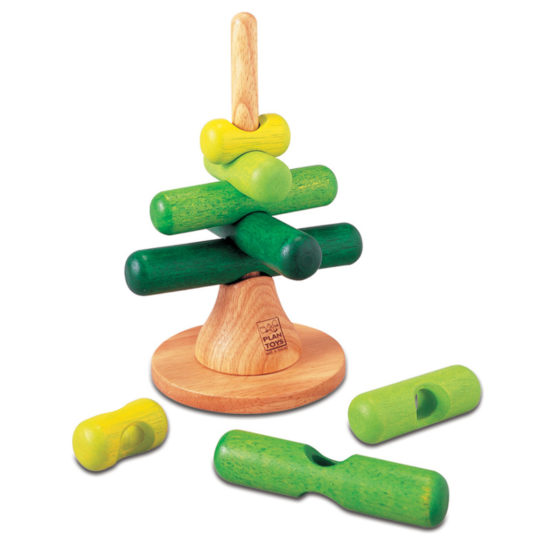 Game of stacking and matching by size and colour. Build a wooden tree up to 215mm
