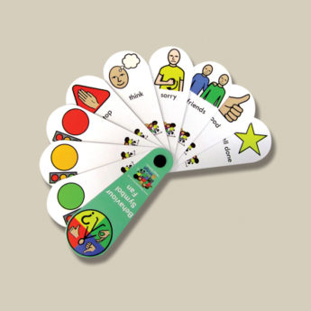 Positive-behaviour fans - a clear visual tool using words and symbols