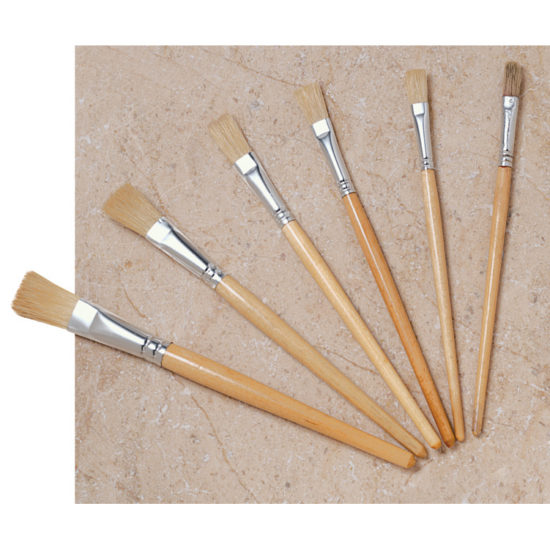 Six brushes. Length 175- 205mm with different width heads.