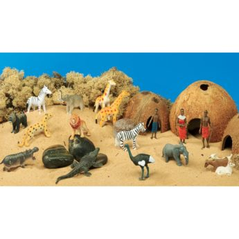 African themed resources:  villagers, their homes and animals for small world play