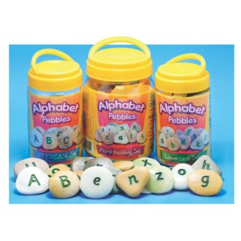 Alphabet Pebbles - upper case, lower case and word building tactile letters. 30-45mm