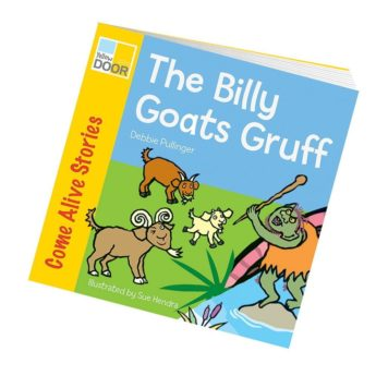 Illustrated Billy Goats Gruff Story Book - picture book and big book version