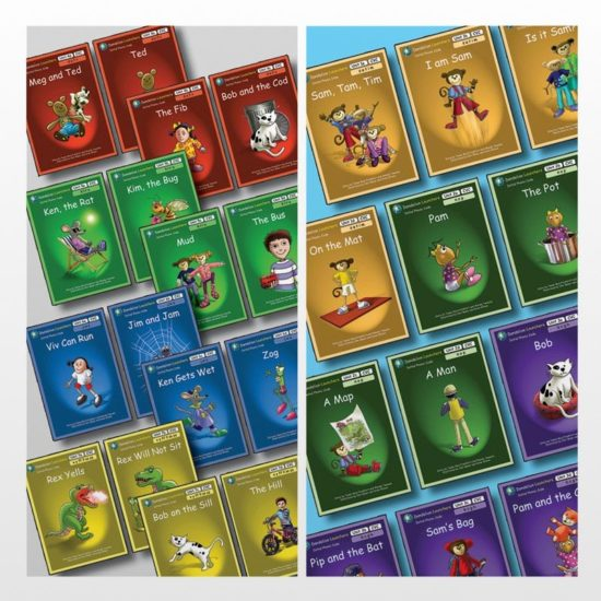 28 phonic reading book series for beginner readers in EYFS and KS1