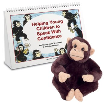 Helping Young Children to Speak with Confidence - activity book and Kofi the chimpanzee soft toy