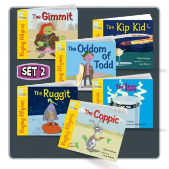Ragtag Rhymes Set 2 includes single and six class pack of six picture books.