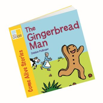 Illustrated Gingerbread Man story book - picture book and big book
