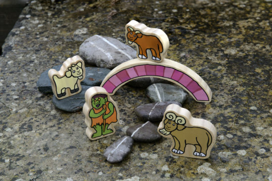 Billy Goats Gruff Wooden Characters