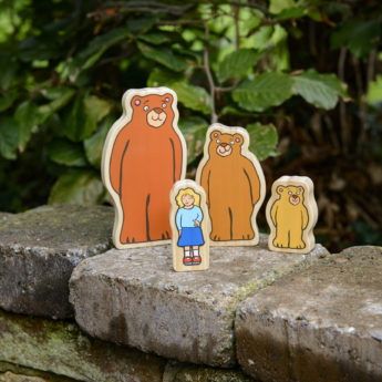 Goldilocks and the Three Bears Wooden Characters