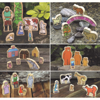 Traditional Tales Wooden Characters