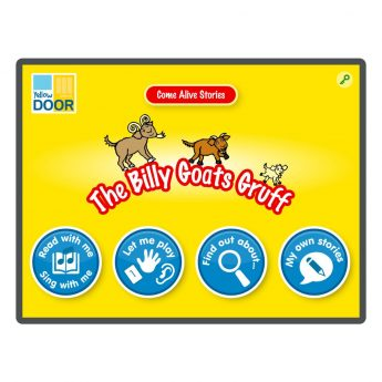 Billy Goats Gruff story, song and games app
