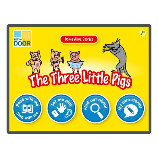 The Three Little Pigs Interactive Story and games app