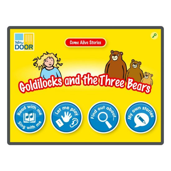 Goldilocks and the Three Bears Interactive Story and games app