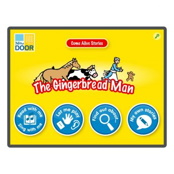 The Gingerbread Man Interactive Story and games app