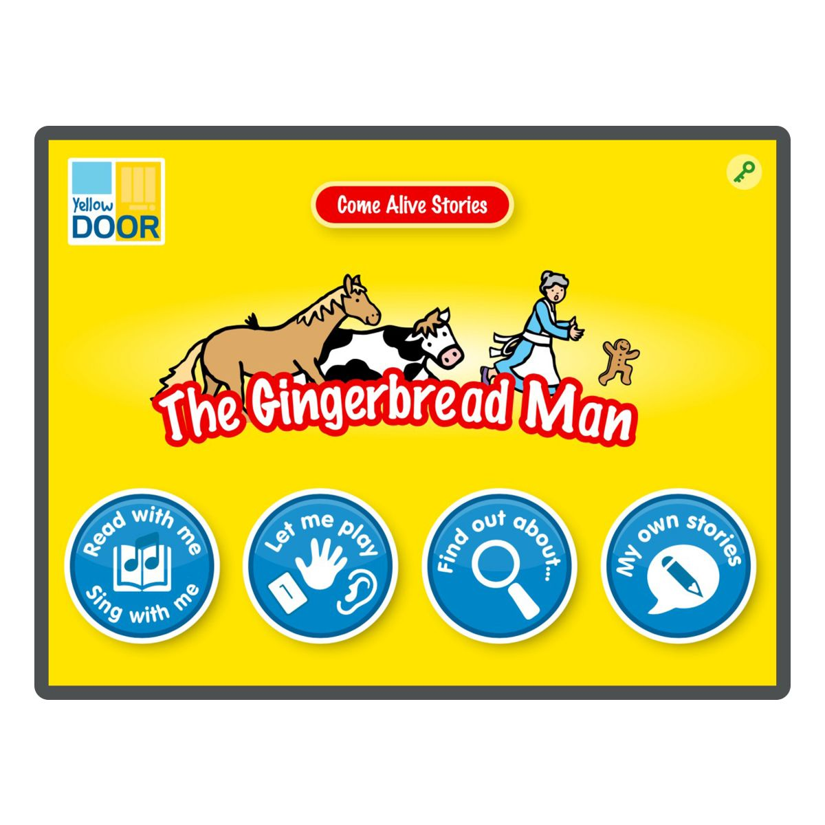 The Gingerbread Man Interactive Story App