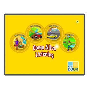 Entertaining sound stories and interactive listening game apps