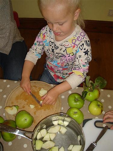 Peeling and cutting veg