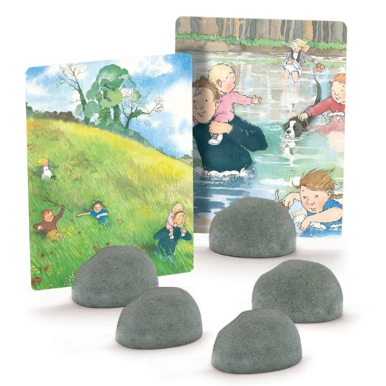 5 durable card holders - ideal for storytelling and small world play