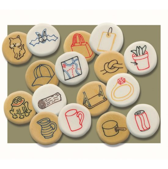 Explore sound and rhyme with this set of 16 appealling rhyming stones