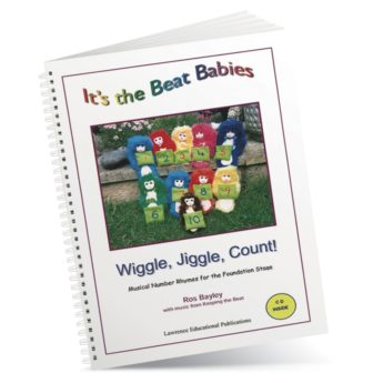 Spiral-bound book of ten number rhymes featuring Beat Babies