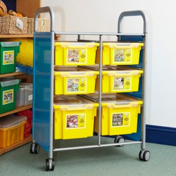 Gratnells Callero trolley filled with 6 Pupil Progress Packs to support learners