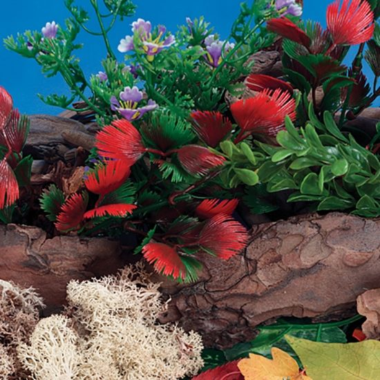 Set of 6 plastic plants to enhance small world play