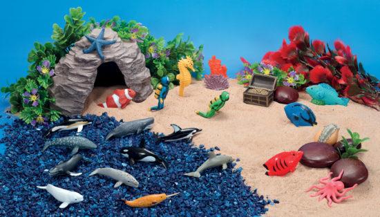 Underwater Explorer scene kit for small world play