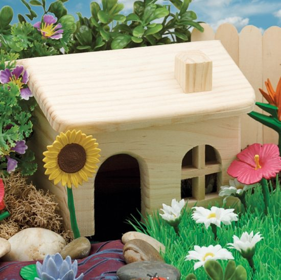 Liven up your small world play with this lovely wooden house